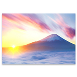 ピンナップ ポストカード 富士山 雲海 日の出 FJ197