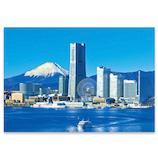 ピンナップ ポストカード 横浜みなとみらい 富士山 YH12