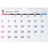 【2019年版・壁掛】 高橋書店 E61 エコカレンダー壁掛 A4判