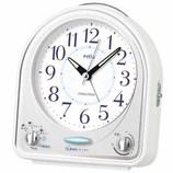 31曲メロディアラームホワイト NR435W│時計 目覚まし時計