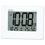 セイコー(SEIKO) 液晶電波クロック SQ770W│時計 電波時計