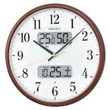セイコー(SEIKO) 日付け・温湿度表示電波掛時計 KX383B ブラウン