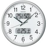 セイコー(SEIKO) 日付け・温湿度表示電波掛時計 KX383S シルバー