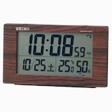 セイコー(SEIKO) 電波デジタル目覚まし時計 SQ784B ウッド│時計 電波時計