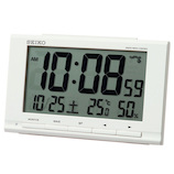 セイコー(SEIKO) 温度湿度表示付き電波クロック SQ789W│時計 電波時計
