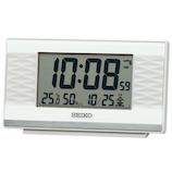 セイコー(SEIKO) 温度・湿度表示つき電波クロック SQ791W ホワイトパール