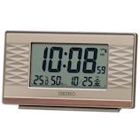セイコー(SEIKO) 温度・湿度表示つき電波クロック SQ791P ピンクゴールド│時計 電波時計