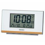 SEIKO タイマー機能つき電波クロック SQ793W パールホワイト│時計 目覚まし時計