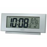 セイコー(SEIKO) 快適環境表示つき電波クロック SQ794S シルバー│温度計・湿度計
