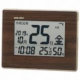 セイコー(SEIKO) 令和対応デジタル電波クロック SQ442B ブラウン│温度計・湿度計