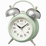 セイコー(SEIKO) ツインベル目ざまし時計 KR508M 薄緑│時計 目覚まし時計