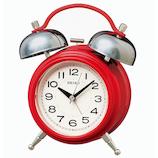 セイコー(SEIKO) ツインベル目ざまし時計 KR508R 赤│時計 目覚まし時計