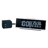 セイコー(SEIKO) チェンジカラー電波クロック DL307W ホワイト│時計 目覚まし時計