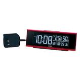 セイコー(SEIKO) チェンジカラー電波クロック DL307R レッド│時計 目覚まし時計