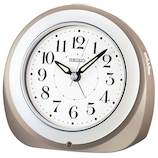 セイコー(SEIKO) 自動点灯電波目覚し KR336N グレー│時計 目覚まし時計