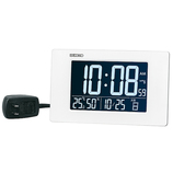 セイコー(SEIKO) 高コントラスト液晶デジタルクロック DL214W ホワイト│時計 目覚まし時計