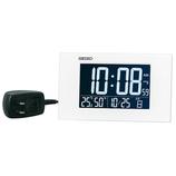 セイコー(SEIKO) 高コントラスト液晶デジタルクロック DL215W ホワイト│時計 目覚まし時計