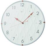 インテリア掛時計 レジン素材 NA702W ホワイト│時計 壁掛け時計