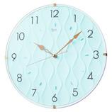 インテリア掛時計 レジン素材 NA702L ブルー│時計 壁掛け時計