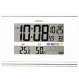 セイコー(SEIKO) 快適環境NAVI 置掛兼用 SQ445W ホワイト│時計 目覚まし時計