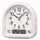 セイコー(SEIKO) 温度・湿度表示つき目ざまし KR512W│時計 目覚まし時計