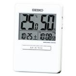 セイコー(SEIKO) 温湿度表示デジタル時計 SQ797W ホワイト│時計 目覚まし時計