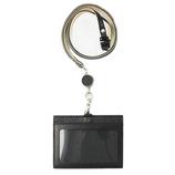 スリップオン アリゾナ リール付き IDストラップ IAZ-5804 ブラック│財布・名刺入れ パスケース