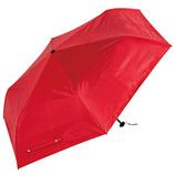 ウォーターフロント(Waterfront) 極軽カーボン 中面カラーコーティング レッド│レインウェア・雨具 折り畳み傘
