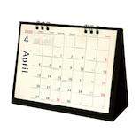 【2020年版・卓上】オーブ 月曜始まり卓上カレンダー CKS-600 ブラック
