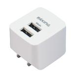 多摩電子工業 microコンセント 2P 2.4A TA54SUW ホワイト