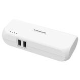 多摩電子 ACモバイルバッテリー5200 USB-A2ポート2.4A TLA14SAW ホワイト