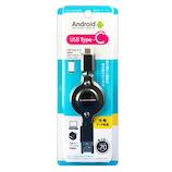 多摩電子工業 C巻取りケーブル USB2.0 Type-C/USB THC139CA07K ブラック