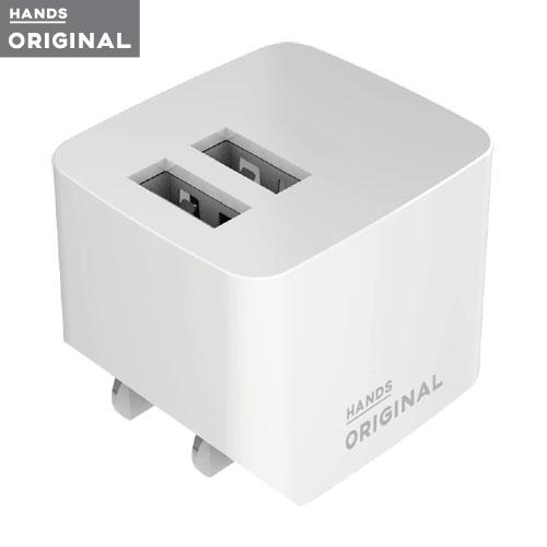 東急ハンズオリジナル コンセントチャージャー 2ポート 2.4A ホワイト