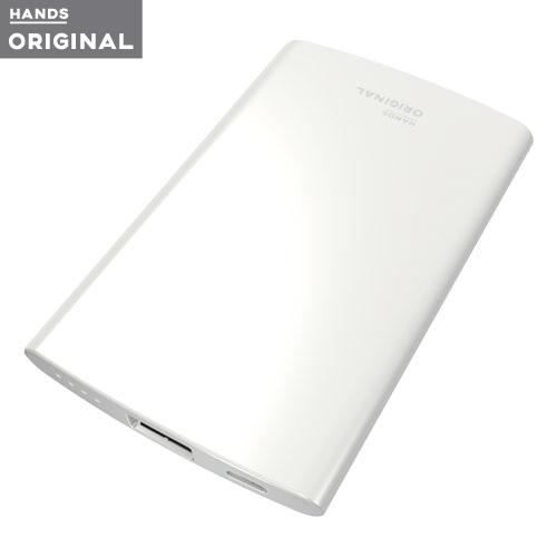 東急ハンズオリジナル 薄型モバイルバッテリー 2500mAh 1ポート ホワイト│携帯・スマホアクセサリー