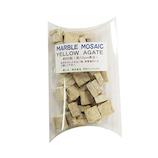 マーブルモザイク角 YELLOW AGATE 12mm 薄黄│床材・壁材 モザイクタイル
