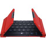 3E(スリーイー) TENPLUS Bluetoothキーボード 3E-BKY7-BR ブラック×レッド