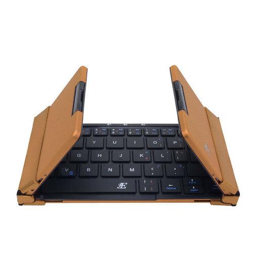 3E(スリーイー) TENPLUS Bluetoothキーボード 3E‐BKY7‐BB ブラック×ブラウンゴールド│オフィス用品