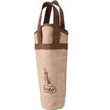 麻ワインバッグ 1本用 ワンポイント 7125