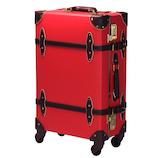 ユーラシア トランク 26L 44cm EUR3054 レッド/ブラウン│スーツケース・旅行かばん スーツケース