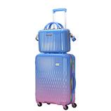 LUNALUX ハードジッパーケース 2116-48 32L ブルー/ピンク