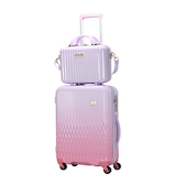 LUNALUX ハードジッパーケース 2116-48 32L ホワイトピンク/ピンク│スーツケース・旅行かばん スーツケース
