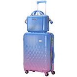 LUNALUX ハードジッパーケース 2116-55 43L ブルー/ピンク