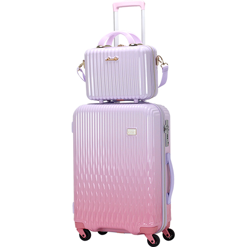 LUNALUX ハードジッパーケース 2116-55 43L ホワイトピンク/ピンク