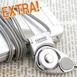 HandLinkerEXTRA 携帯ネックストラップ シルバー│携帯・スマホストラップ ネックストラップ