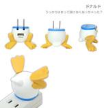Hamee ディズニーキャラクター/おしりUSB-AC充電器 ドナルド