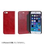 【iPhone 6s/6】 マグネティッククリップダイアリーケース レッド