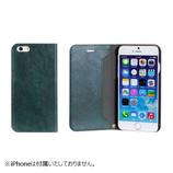 【iPhone 6s/6】 マグネティッククリップダイアリーケース グリーン