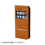 【iPhone SE/5s/5】 CERTA(ケルタ) FLIP 窓付きダイアリーケース キャメル