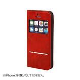 【iPhone SE/5s/5】 CERTA(ケルタ) FLIP 窓付きダイアリーケース レッド