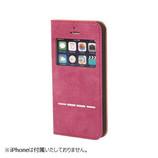 【iPhone SE/5s/5】 COSMO FLIP 窓付きダイアリーケース パープル